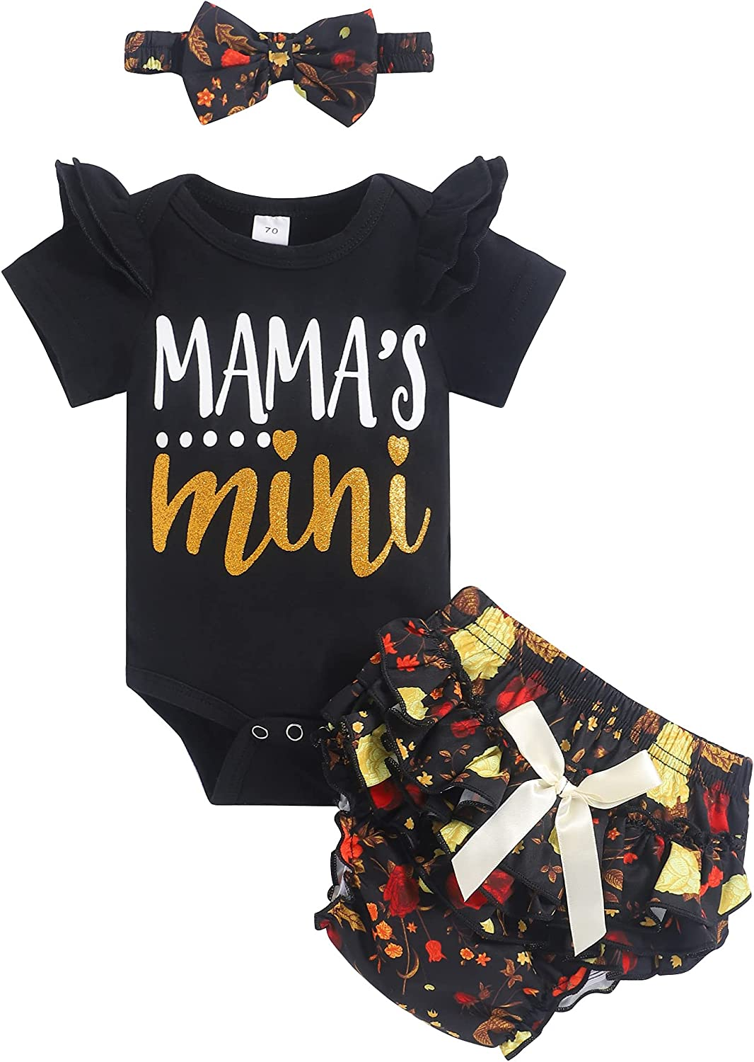 Newborn Baby Girl Clothes Infant Romper Floral Shorts Set Summer Outfits Cute Baby Clothes