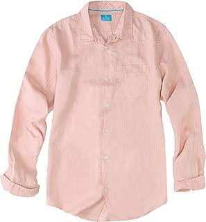 Men's Regular Fit Long Sleeve 100% Linen Shirt