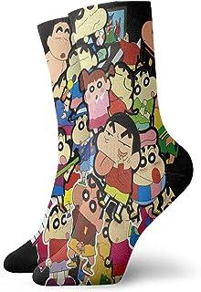 Yuanmeiju calcetines de punto Crayon Shin Chan Mens Womens Personality Cute Creative Crew Socks