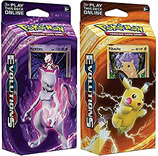Pokemon Mewtwo & Pikachu XY Evolutions TCG Card Game Decks – 60 Cards Each