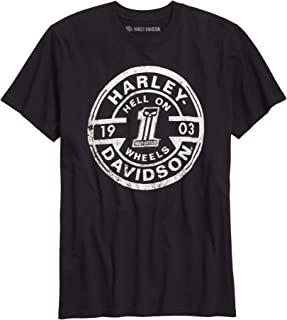 Harley-Davidson Men's Hell On Wheels Slim Fit Tee, Black (Xx-Large)