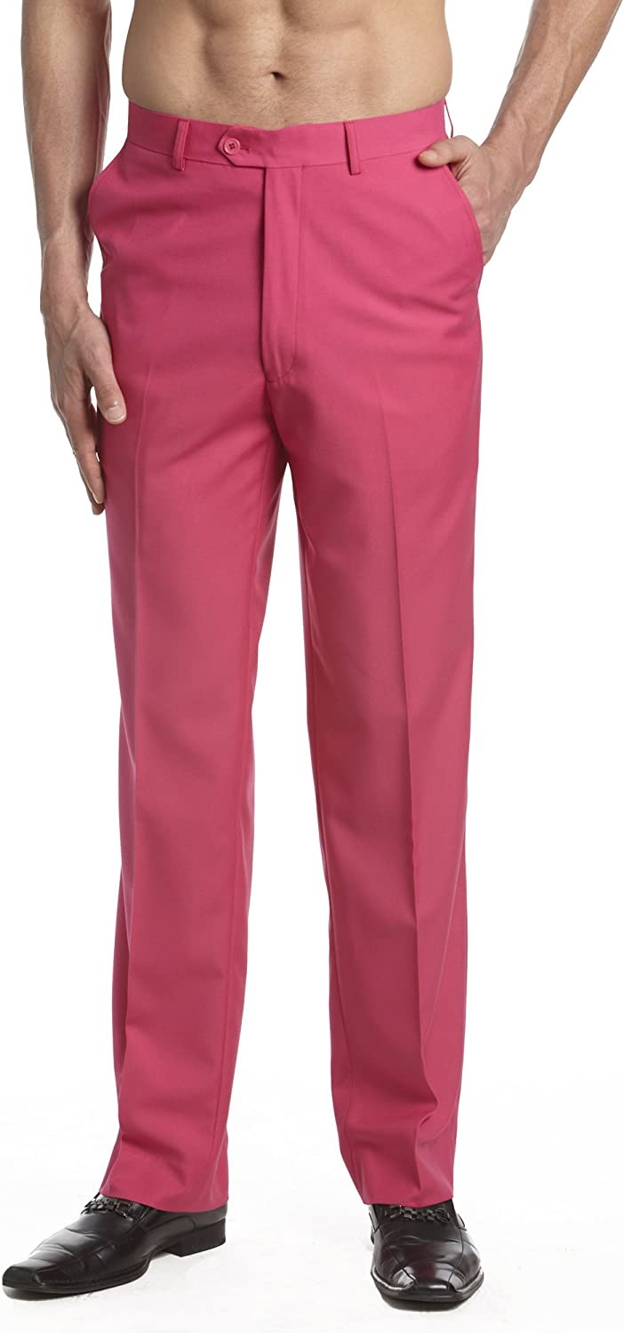 Mail order cheap CONCITOR Men's Dress Pants Trousers Flat HOT Front Solid Slacks Mail order