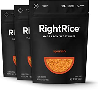 RightRice - Spanish (7oz. Pack of 3) - Made from Vegetables - High Protein, Vegan, non GMO, Gluten Free