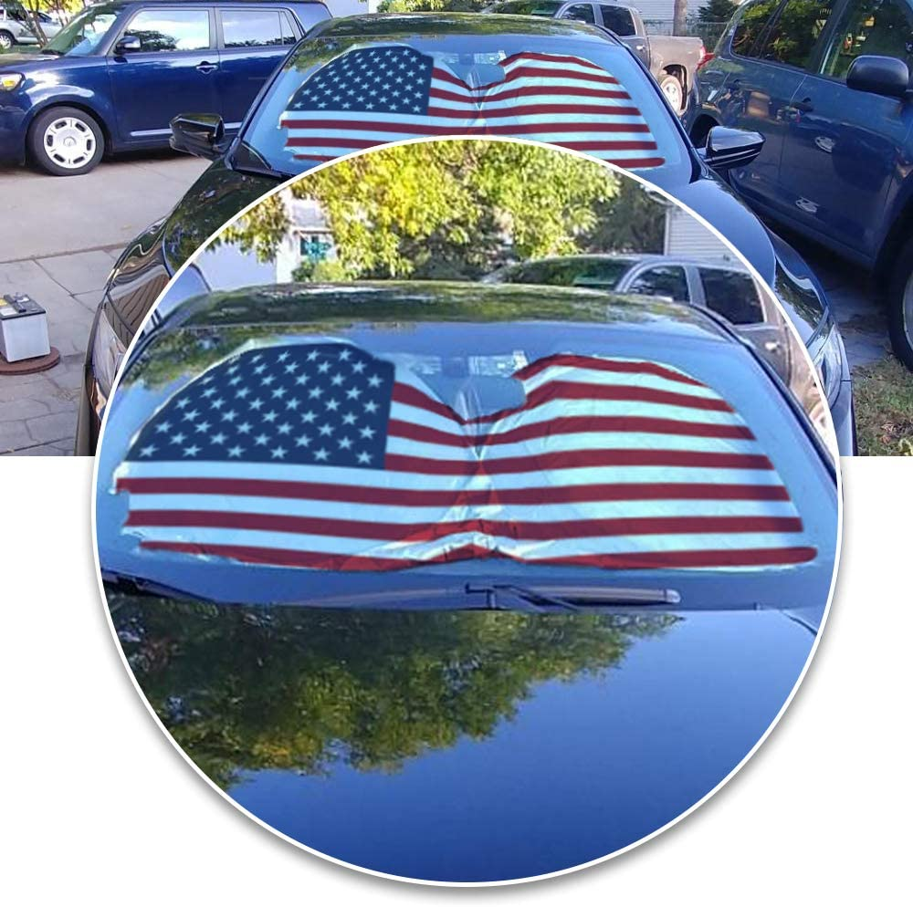 Car Front Window Sunshades Foldable Cartoon Cool Sun Visor Shield Car Sunshade Cover Baby for Most Sedans SUV Truck Pickup Protect Your Vehicle from UV Heat Car Sun Shade for Windshield Cute