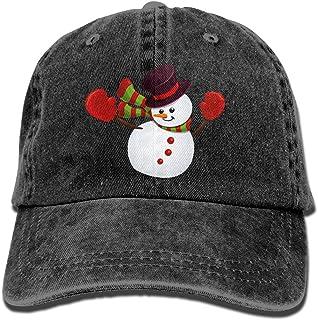 4f1c01cae2d Christmas Snowman Cartoon Unisex Denim Fabric Baseball Cap Adjustable  Snapback Solid Hat For Men Women