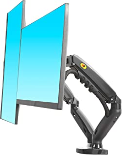 """North Bayou F160 Dual Monitor Full Motion Desk Mount with Gas Spring for Two Computer Monitors 17'' - 27"""" LED LCD Flat Pan..."""