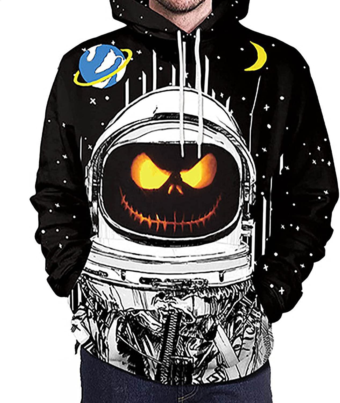 Bravetoshop Men's Max 85% OFF 3D Printed Halloween Hooded Novelty ...