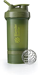 BlenderBottle C01716 ProStak System with 22-Ounce Bottle and Twist n' Lock Storage, 22 oz, Moss Green