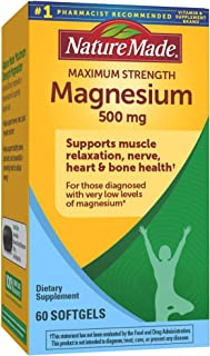 Sponsored Ad - Nature Made Maximum Strength Magnesium Oxide 500 mg Softgels, 60 Count for Nutritional Support