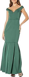 Womens Off-The-Shoulder Evening Formal Dress