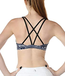 Workout Sports Bras for Women - Women's Strappy Running Yoga Bra, Activewear Top, Athletic Fitness Clothes
