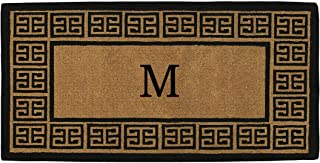 Home & More 180093672M The Grecian 3' X 6' Extra-thick Monogrammed Doormat (Letter M)