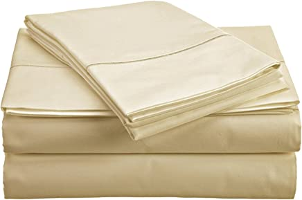 Reliable Bedding 3-Piece Solid Duvet Cover Set-600 TC Egyptian Cotton Ultra Soft,  Durable, Easy Care & Fade Resistant Top Quality Premium Bedding Collection !!! (Full/Queen,  Ivory)