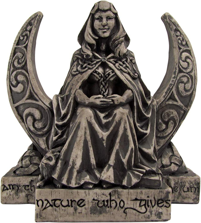 Dryad Design Moon Goddess Statue Stone Finish