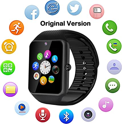 Bluetooth Touch Screen Smart Watch with Camera Fitness...