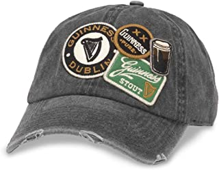 Iconic Patch Distressed Dad Hat Guiness, Black (GUIN-1802A)