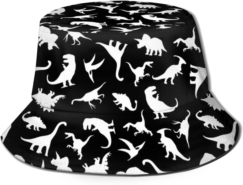 LVGOOKI Dinosaur Bucket Hat, Summer Travel Beach Portable Breath