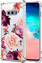 KIOMY Galaxy S10e Case for Girls Women Clear with Flower Design Shockproof Bumper Protective Cute Floral Case for Samsung ...