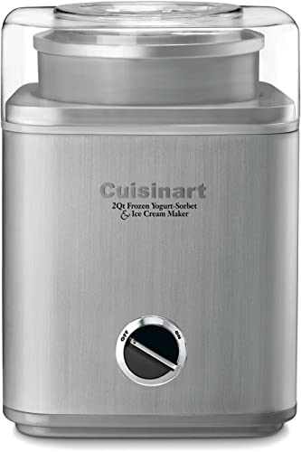 wholesale Cuisinart online sale ICE-30BC Pure Indulgence 2-Quart Automatic Frozen Yogurt, Sorbet, and Ice Cream Maker popular - Silver (ICE-30BCP1) outlet online sale