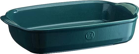 Emile Henry 979654 France Ovenware Ultime Rectangular Baking Dish, 16.5 x 10.6, Blue Flame
