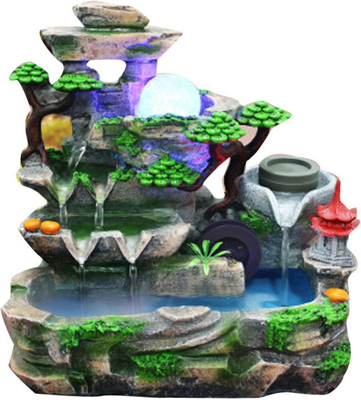 低価格化 Multicolors Indoor Water Fountain オンラインショップ Led Resin Wat and Mist Rockery