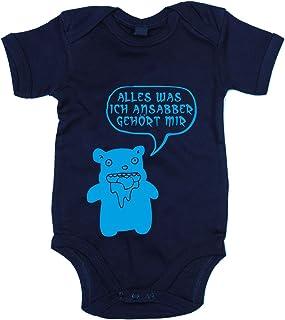 shirtdepartment Baby Body - Alles was ich Ansabber gehört mir!