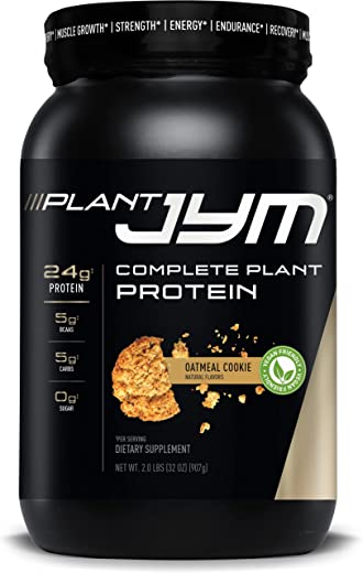 JYM Supplement Science Plant Jym Oatmeal Cookie, 2 Lb, Oatmeal Cookie, 2 Pound