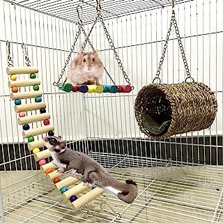 HomeDecTime 15 Piezas//Juego Birds Chew Toys Cage Toy Colgante De Madera para P/ájaros