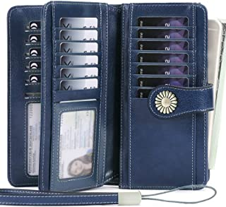 Women Wallet, Large Capacity with RFID Protection, Genuine Leather by SENDEFN