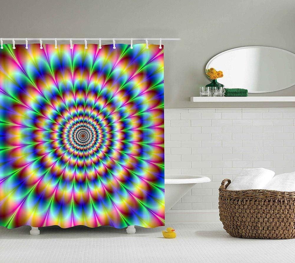 multicolore Boyouth Rideau de douche avec motif lion tigre l/éopard imprim/é num/érique pour salle de bain rideau de bain en polyester imperm/éable avec 6 crochets 89 x 178 cm