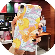 vbsndndsws Floral Phone Case for iPhone 7 Case Silicone Soft Cover for iPhone 8 Plus 6 6S 7 Plus XS Max XR X Case Phone Cover,01,for iPhone XR