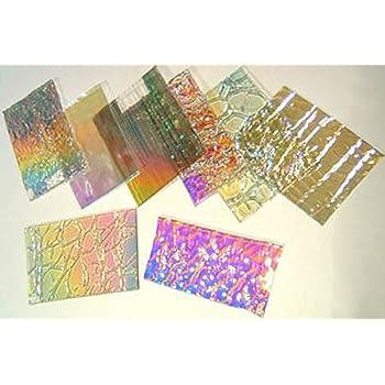 90 COE 1//4 Lb Premium Dichroic Scrap Glass On Uroboros Clear Herringbone Ripple