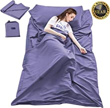 Sleeping Bag Liner Travel Camping Sheet Lightweight Hotel Sheet Compact Sleep Bag Sack Lightweight Breathable Liners Warm Roomy for Camping Youth Hostels Picnic Adult Compact Sacks