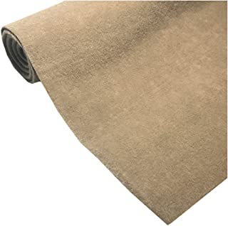 """Marine Upholstery Durable Un-Backed Automotive Trim Carpet 72"""" x 36"""" Mini Roll (Taupe)"""