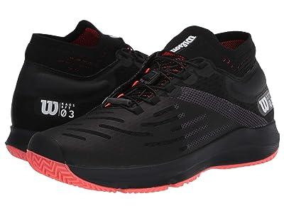 Wilson Kaos 3.0 Sft (Black/White/Fiery Coral) Men
