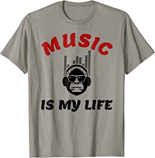 Music Is My Life Music Lovers And Musician Gift T-Shirt