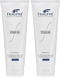 FRAGFRE Hair Styling Gel 8 oz (2-Pack Gift Set) - Fragrance Free Paraben Free Hypoallergenic - Irritation Free Styling Gel for Sensitive Skin - for Men Women Children - Gluten Free Vegan Cruelty Free