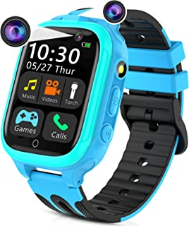 Kids Smart Watches for Girls Boys, Kids Smartwatch with Call 14 Games Dual Cameras Alarm Music Player Flashlight 12/24 hr,...