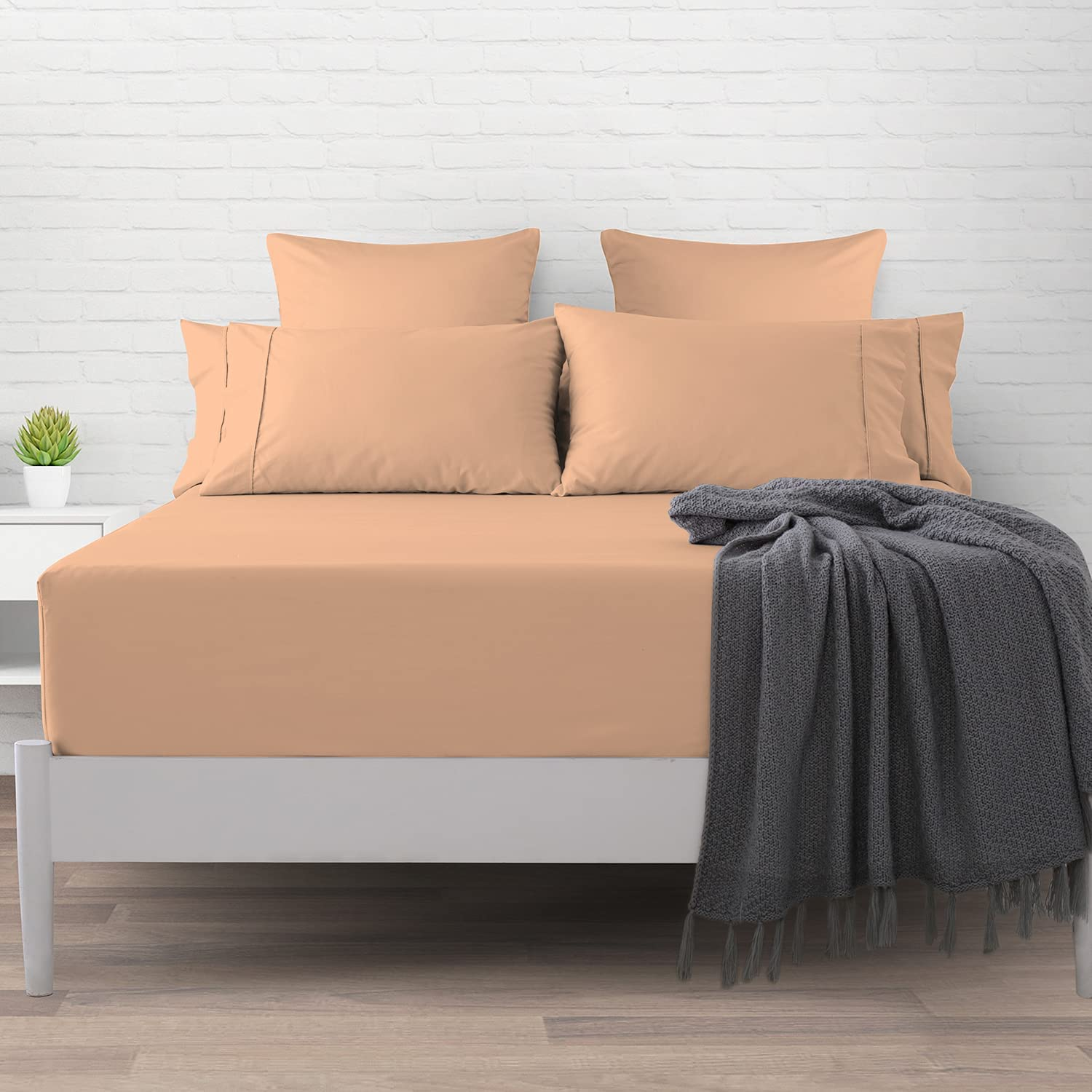 Soft 400 Thread Count Cotton Full Sheets 100% Direct store 1pc Orange Fitted Shipping included