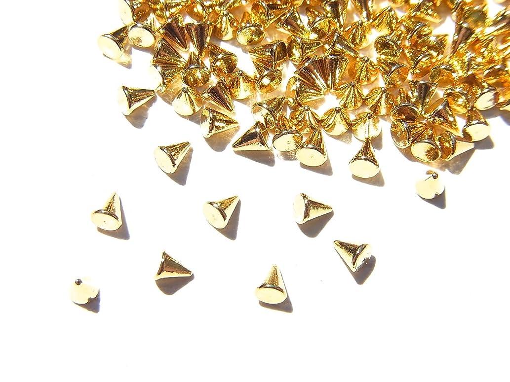 教育者私たちのもの思い出させる【jewel】ゴールド メタルパーツ リベット (トゲトゲ) Mサイズ 10個入り 2.2mm×1.8mm 手芸 材料 レジン ネイルアート パーツ 素材