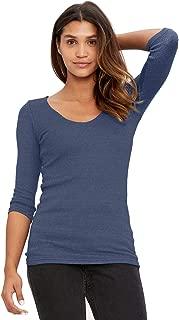 Michael Stars Women's Shine T-Shirt with Three-Quarter Sleeves