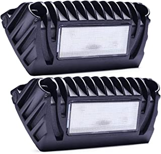 SnowyFox 12V LED RV Exterior Porch Light 750 Lumen for RVs Trailers Campers (2 Pack)