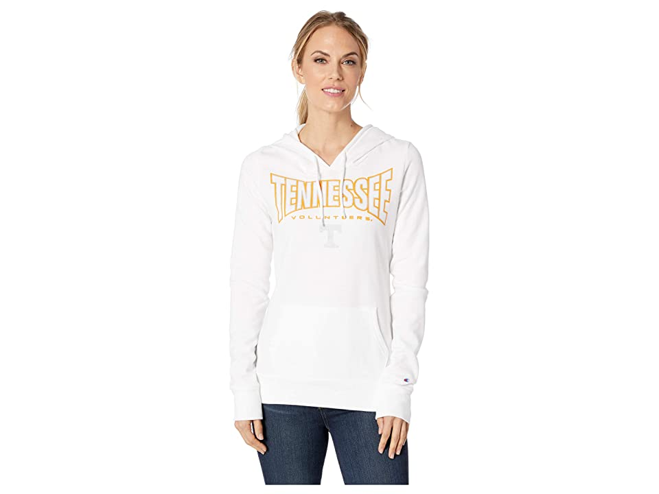 Champion College Tennessee Volunteers Eco University Fleece Hoodie (White) Women