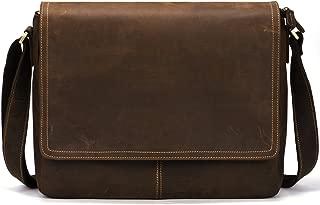 Vintage Leather Business Messenger Bag Fits 15