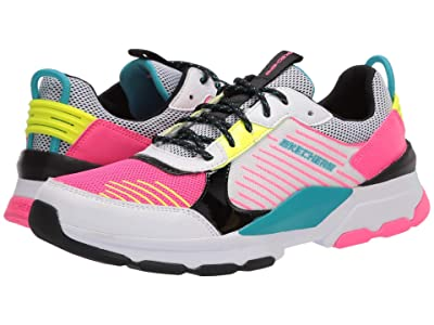 SKECHERS KIDS Sport Street Status 302229L (Little Kid/Big Kid) (White/Black/Multi) Girls Shoes