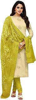 ladyline Embroidered Dupatta Silk Salwar Kameez Womens Ready to Wear Indian Dress