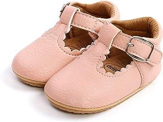 Auxm Chaussures de princesse pour bébé fille - Semelle souple antidérapante - Cuir - Mode décontractée - Convient pour les...