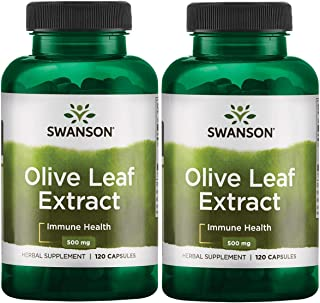 Sponsored Ad - Swanson Olive Leaf Extract 500 mg 120 Caps 2 Pack