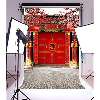 10x8ft Japanese Red Leaves Temple Backdrop Photography Background Scenic Spots Ancient Buildings Photo Studio Props LHFU292