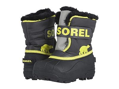 SOREL Kids Snow Commander (Toddler/Little Kid) (Dark Grey/Warning Yellow 1) Boys Shoes